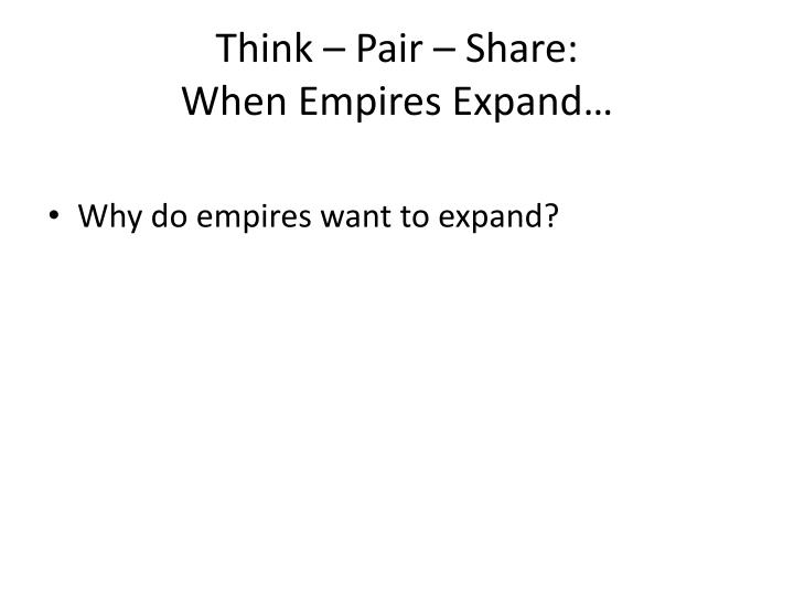 Think – Pair – Share: