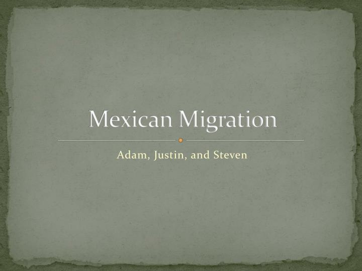 mexican migration n.