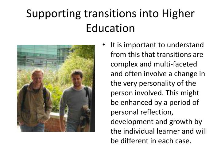 Supporting transitions into Higher Education
