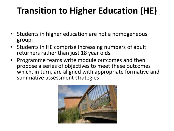 Transition to Higher Education (HE)