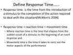 define response time