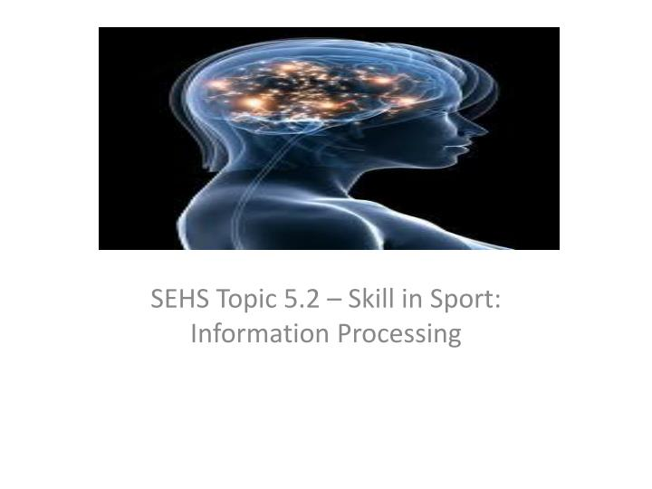 sehs topic 5 2 skill in sport information processing