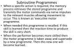 subroutine programmes