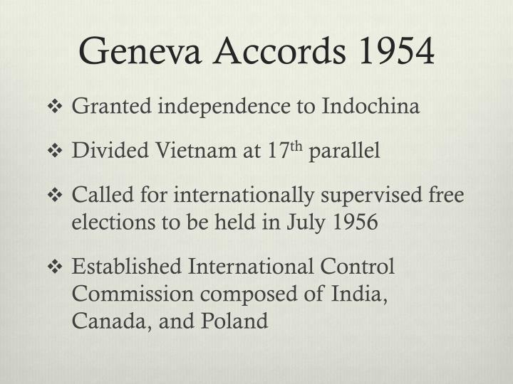 Geneva Accords 1954
