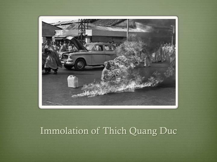 Immolation of