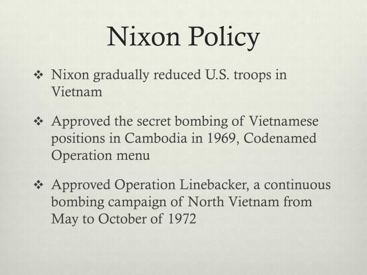 Nixon Policy