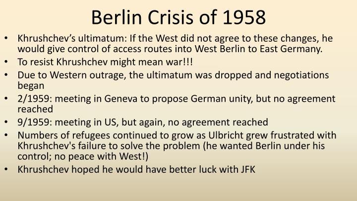 Berlin Crisis of 1958