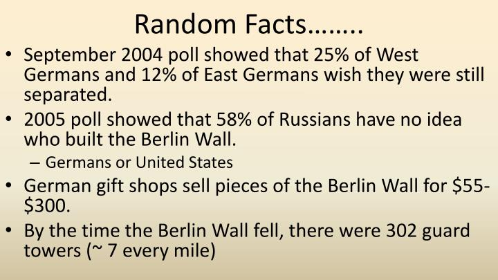 Random Facts……..