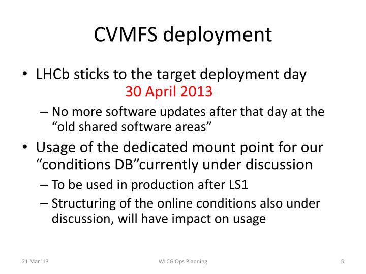 CVMFS deployment
