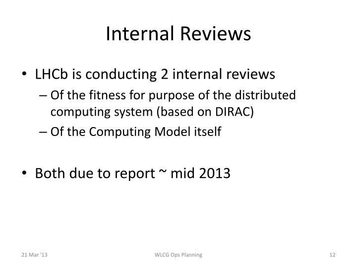 Internal Reviews