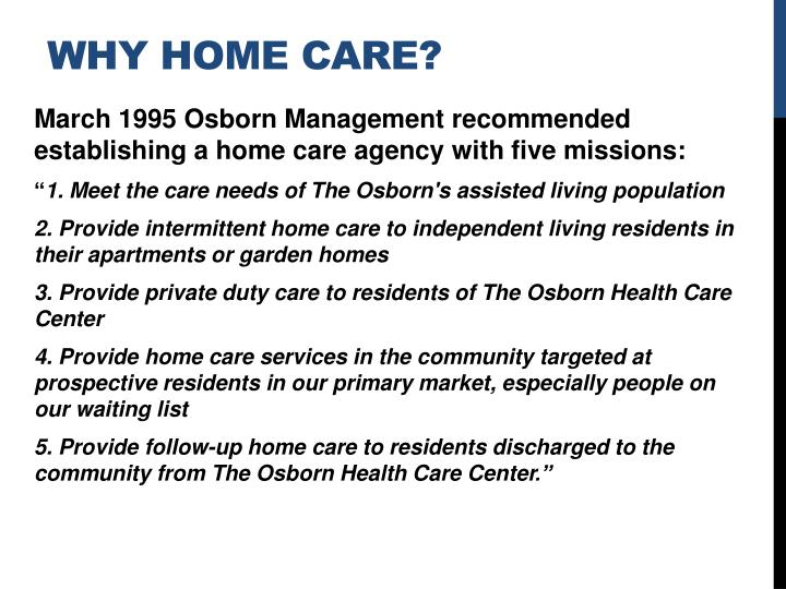 Why home care