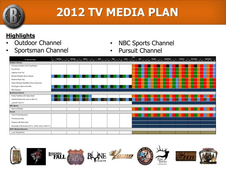 2012 TV MEDIA PLAN
