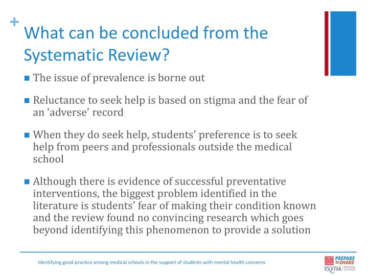 What can be concluded from the Systematic Review?