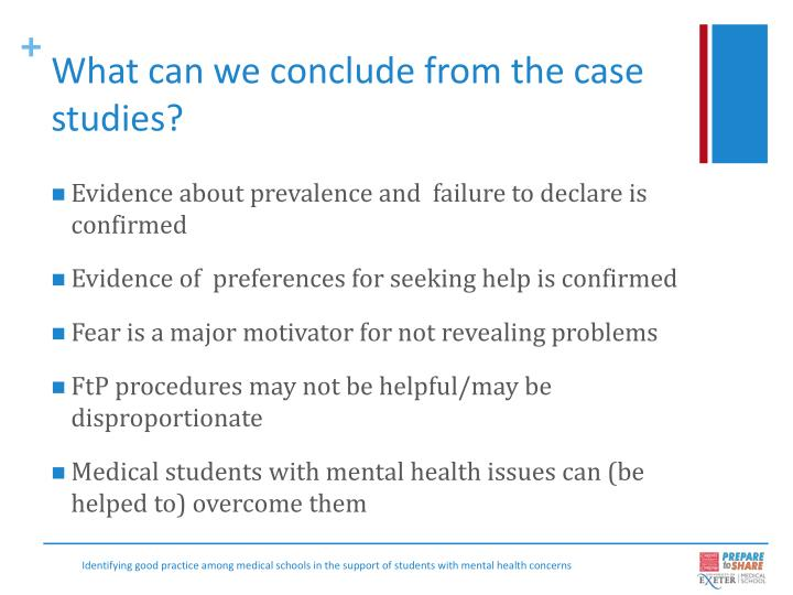 What can we conclude from the case studies?