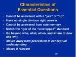 characteristics of essential questions