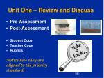 unit one review and discuss3