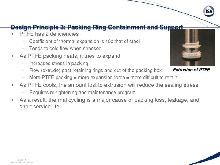 Design Principle 3: Packing Ring Containment and Support