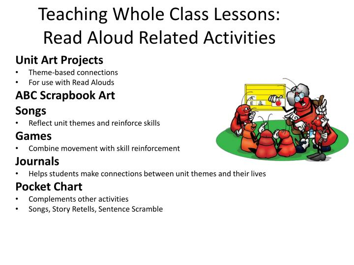 Teaching Whole Class Lessons: