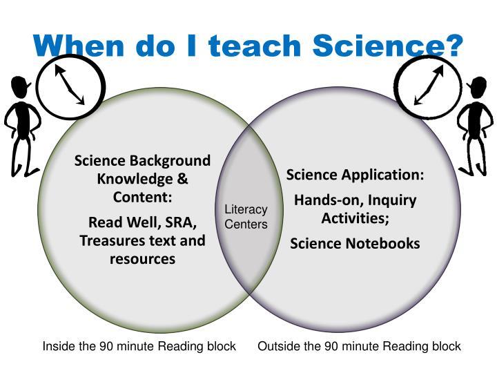 When do I teach Science?