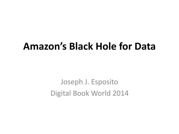 amazon s black hole for data n.