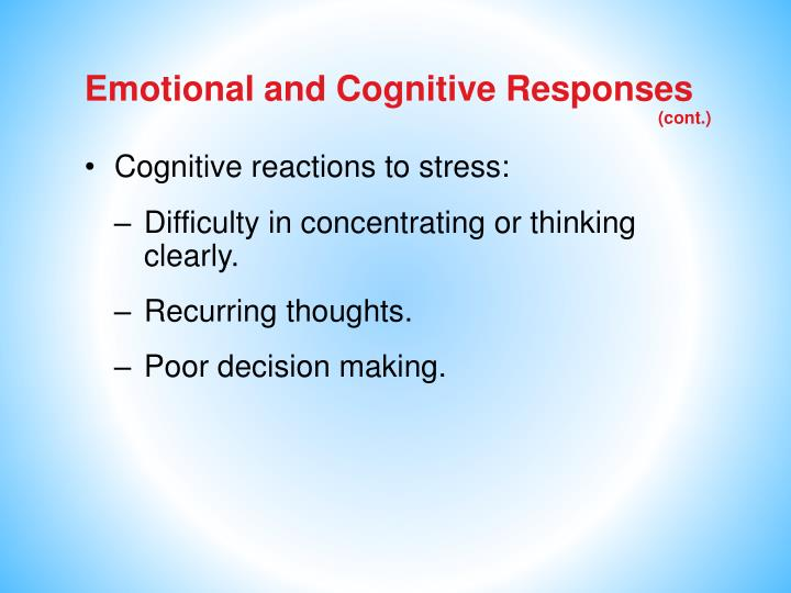Emotional and Cognitive Responses