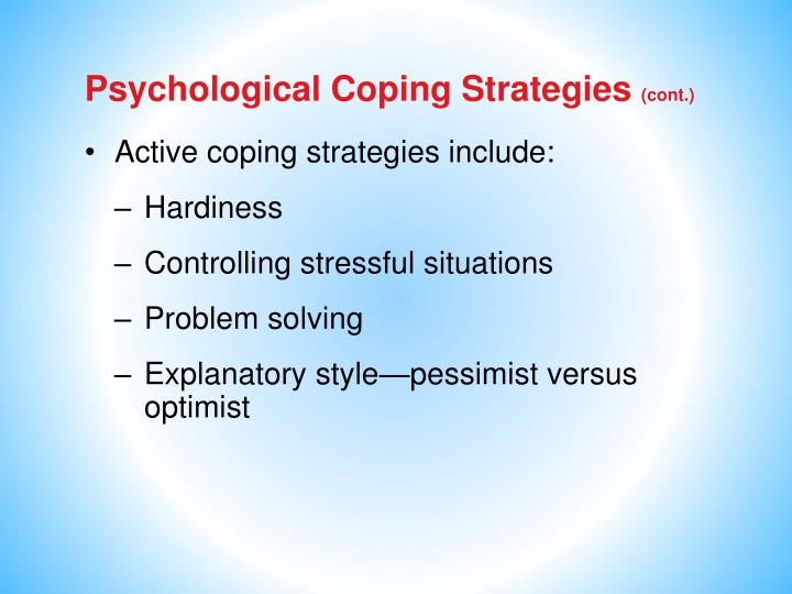 Psychological Coping Strategies