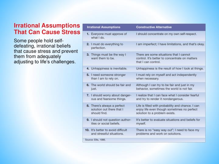 Irrational Assumptions That Can Cause Stress