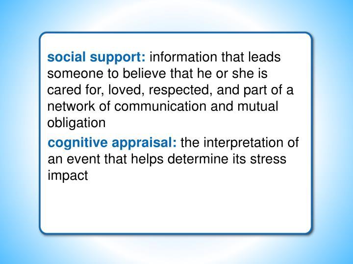 social support: