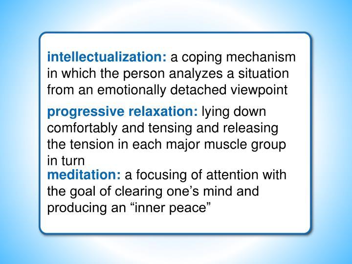 intellectualization: