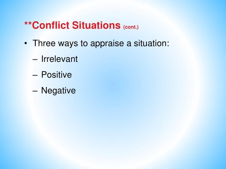 **Conflict