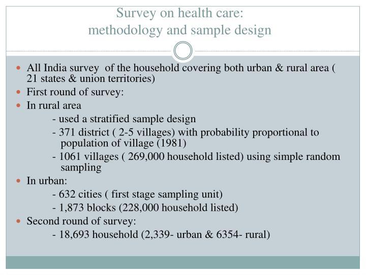 Survey on health care: