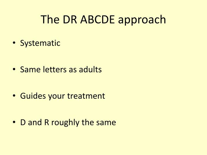 The DR ABCDE approach