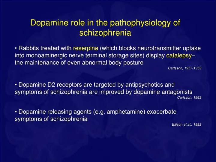 Dopamine role in the pathophysiology of schizophrenia