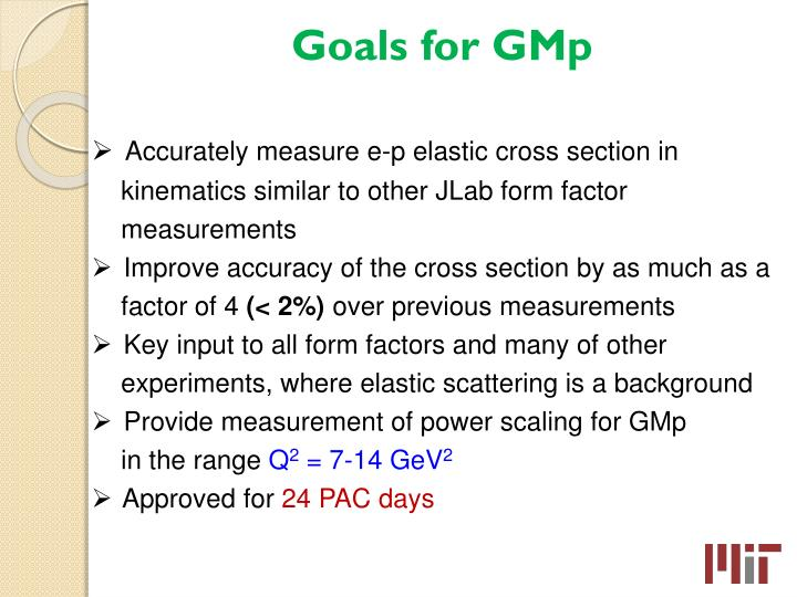 Goals for gmp