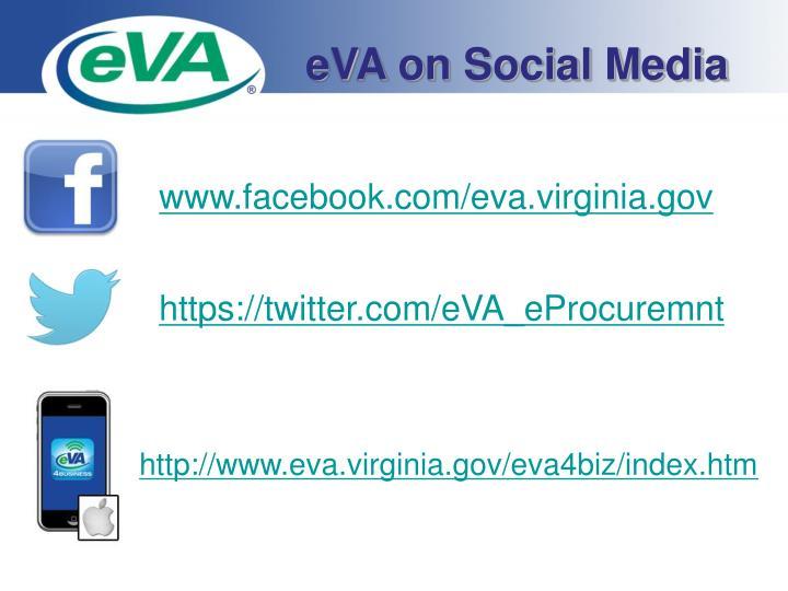 eVA on Social Media