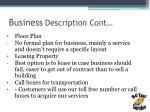 business description cont