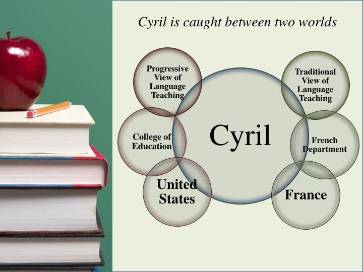 Cyril is caught between two worlds