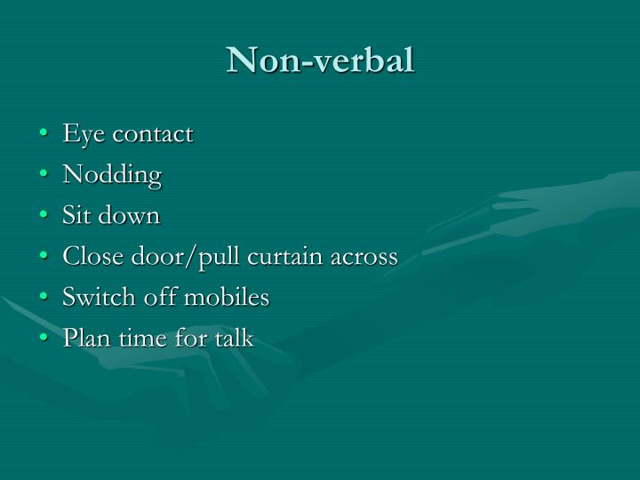 Non-verbal