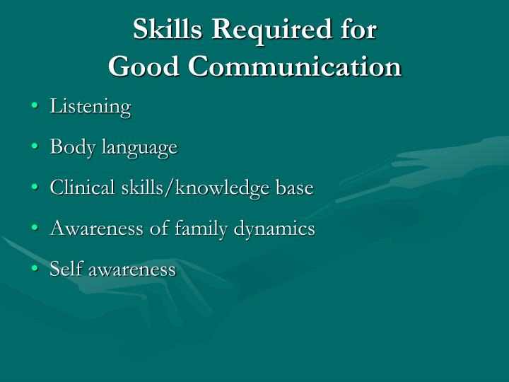 Skills Required for