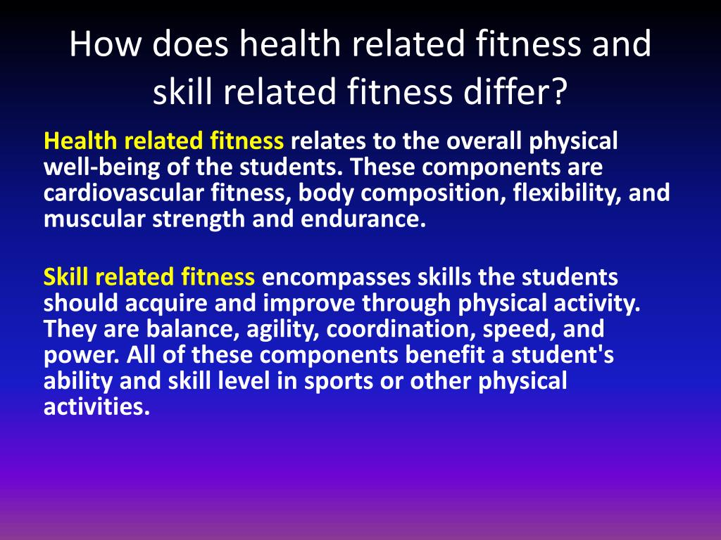 PPT - Skill- Related Fitness Components PowerPoint ...