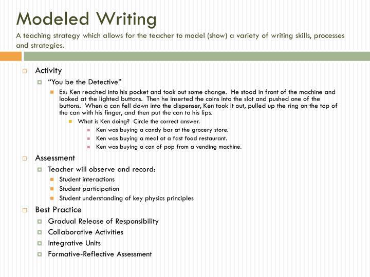 Modeled Writing