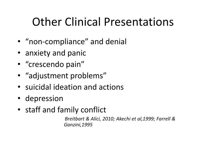 Other Clinical Presentations