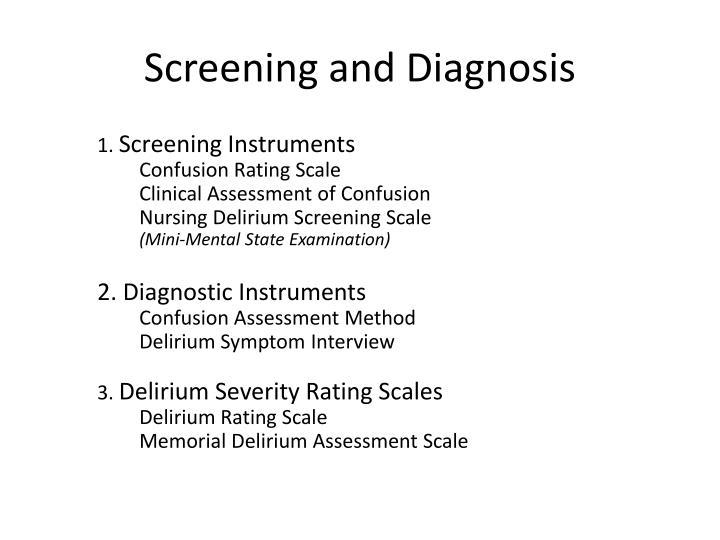 Screening and Diagnosis