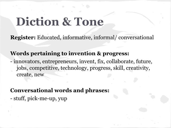 Diction & Tone