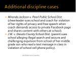 additional discipline cases