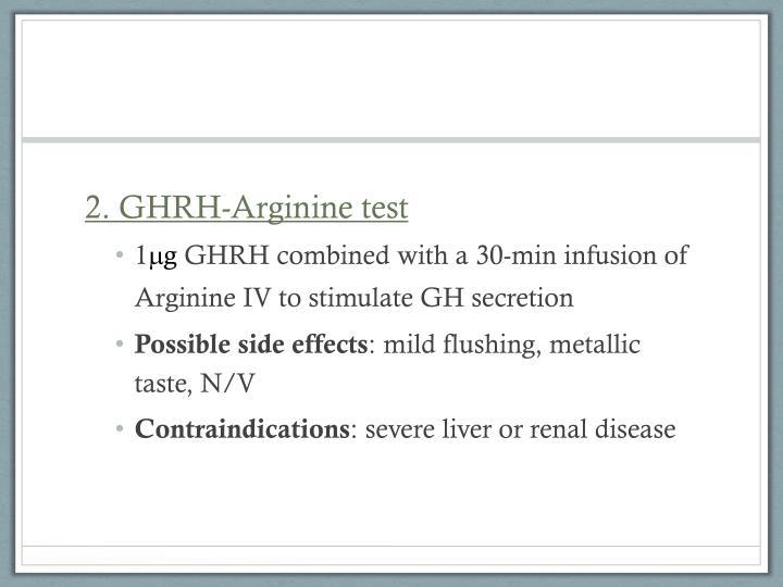 2. GHRH-Arginine test