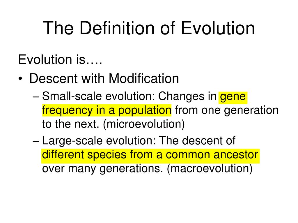 what is the concept of evolution