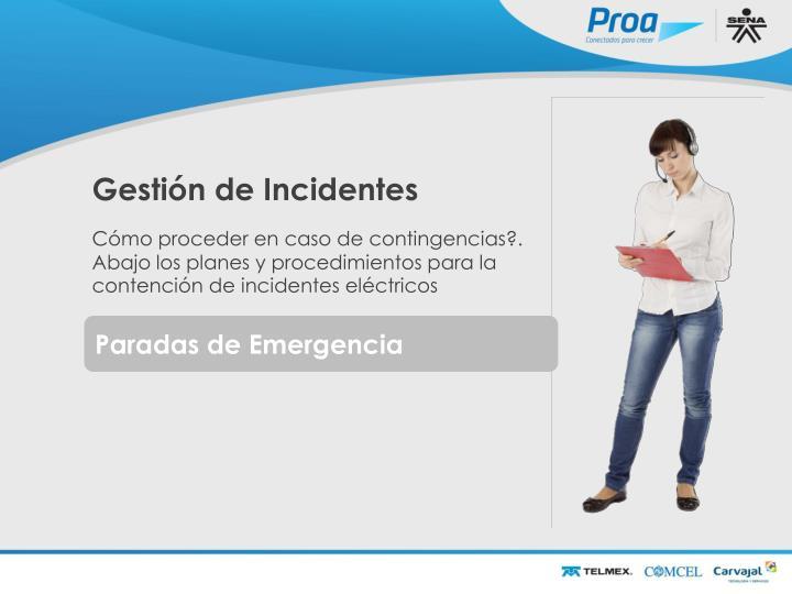 Gestión de Incidentes