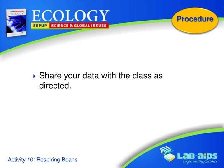 Share your data with the class as directed.