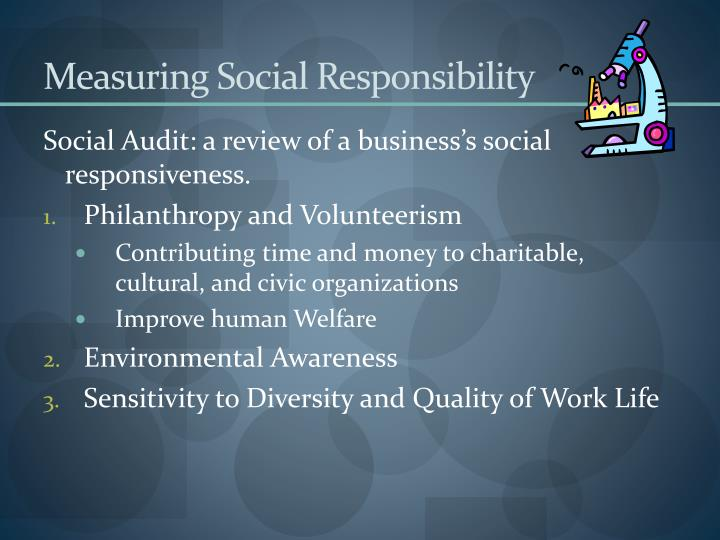 Measuring Social Responsibility